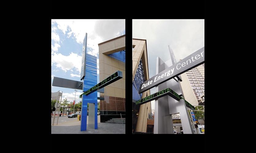 Entry Signage, Duke Energy Center, City of Cincinnati Department of Transportation and Engineering, Sussman/Prejza & Company, LMN Architects