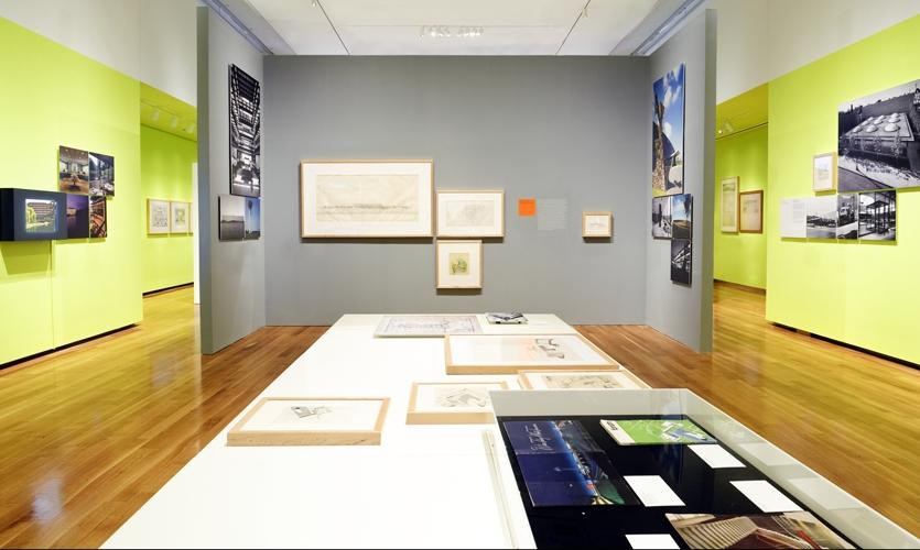Exhibit Display Area, Eero Saarinen: Shaping the Future, Museum of the City of New York, Cooper Joseph Studio