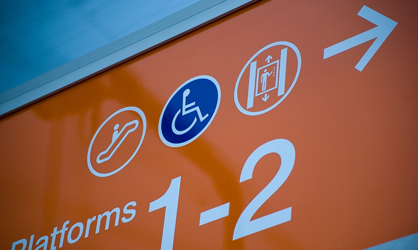 Wayfinding Signage, Fortitude Valley Station, QR Passenger Pty. Ltd., The Buchan Group