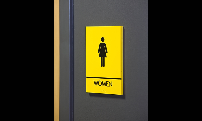 Restroom Signage, Lance Armstrong Foundation Headquarters, fd2s inc.