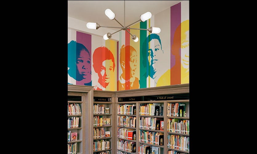 Wall Graphics, The L!BRARY Initiative, The Robin Hood Foundation, Pentagram