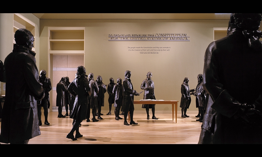 Bronze Figures, National Constitution Center, Ralph Appelbaum Associates
