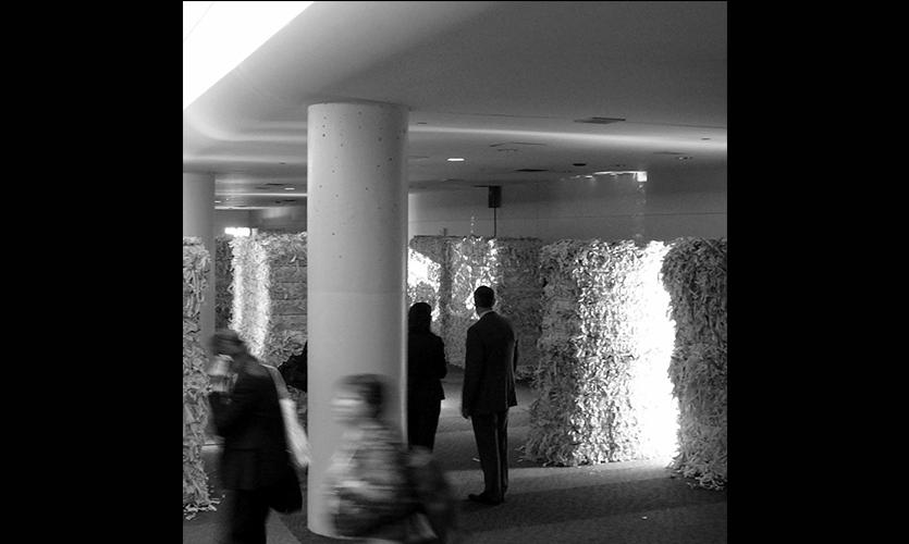 Interaction Among Paper Bales, NeoCon East Installation, Merchandise Mart, Gensler