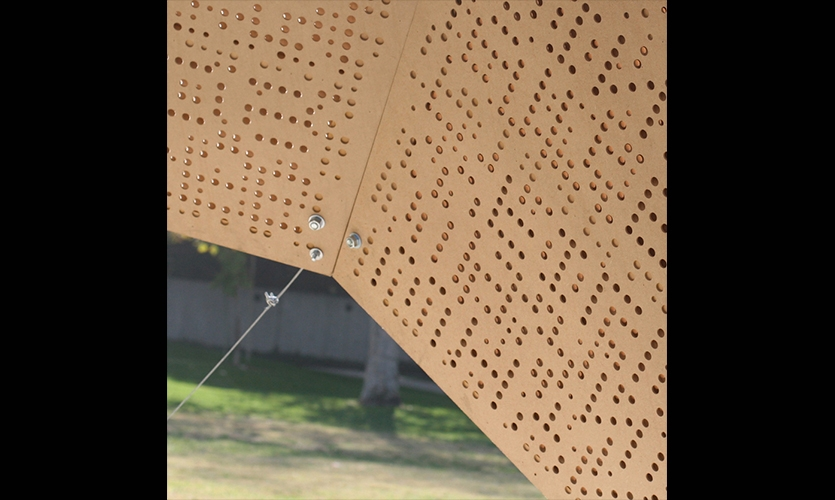 One Detail of Dome Holes, Day Poem Pavilion, Art Center College of Design, Jiyeon Song