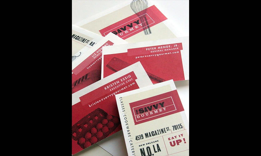 Print Materials, The Savvy Gourmet, Zande+Newman Design