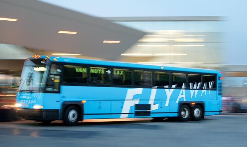 Bus, Van Nuys Flyaway, Los Angeles World Airports, Sussman/Prejza & Company