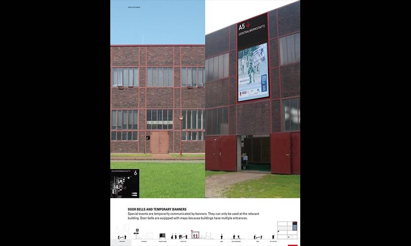 Zeche Zollverein Wayfinding, Landesentwicklungsgesellsutag (LEG Research and Development Company), F1RST DESIGN