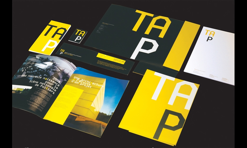 P-06 also created TAP's corporate identity, using the same bold font, colors, and playful graphic logic as the wayfinding system.
