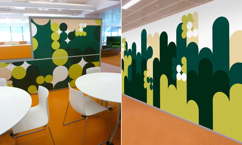 Graphics on Walls, Macquarie Bank Ltd. Headquarters, Macquarie Bank Ltd./Clive Wilkinson Architects, EGG Office