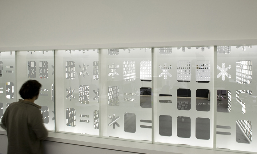 Window Graphics, Skin,  Pavilion of Knowledge, P-06 Atelier, JLCG Architects