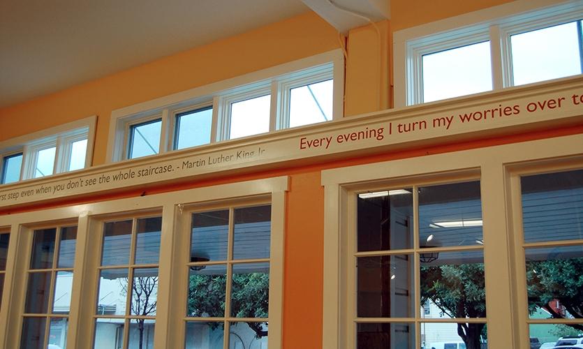 Quotes, St. Vincent de Paul Free Dining Room, Debra Nichols Design