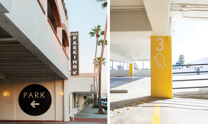 The parking garage renovation was a key component of the repositioning of the project.