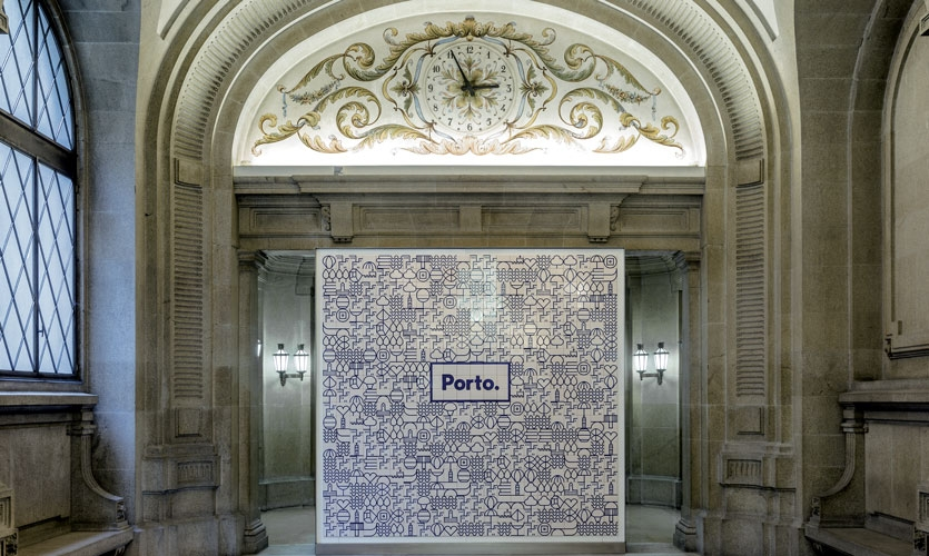 From Archigraphia Redux: Porto; Porto, Portugal; Design Firm: White; Client: Camara Municipal do Porto