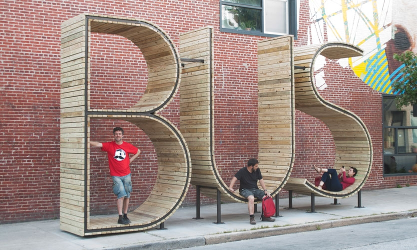 From Archigraphia Redux: BUS; Baltimore, Maryland, USA; Design Firm: mmmm; Client: Baltimore Office of Promotion and the Arts