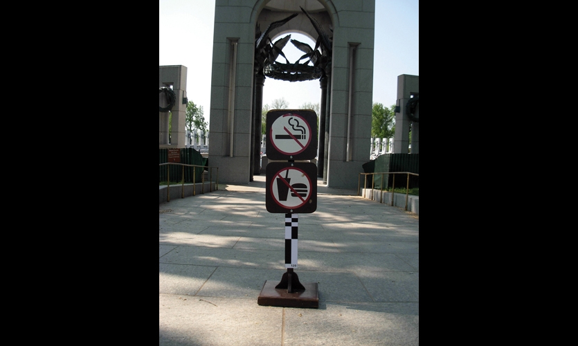 Of the more than 300 existing signs on the mall, more than half were outdated, unnecessary, or unclear regulatory signs.