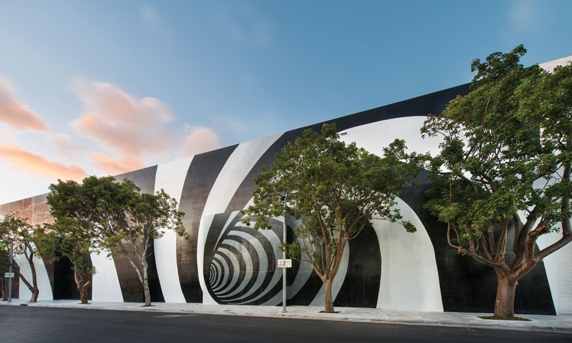 From Archigraphia Redux: Miami Design District Mural (Vortex); Miami, Florida, USA; Design Firm: 2x4; Client: Dacra