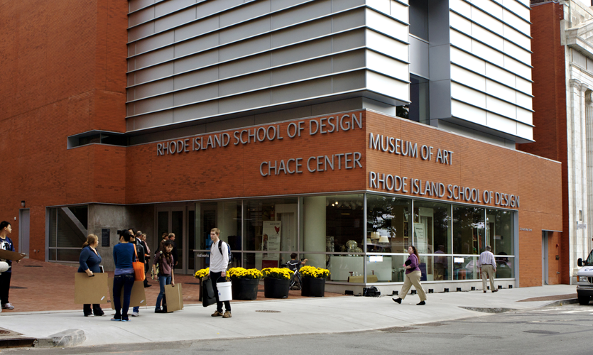 Exterior building ID for Rhode Island School of Design Chace Center and Museum of Art, Providence, RI (Two Twelve)