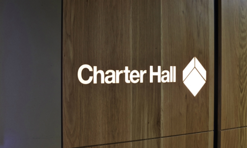 The Urbanite design team leveraged the vernacular of Charter Hall's diimensional cube logo.