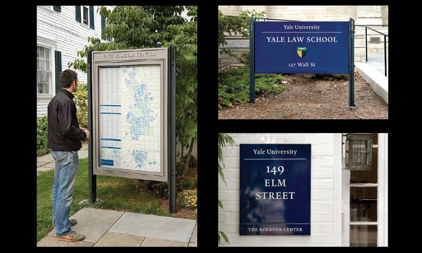 Campus sign program for Yale University, New Haven, CT (Two Twelve)
