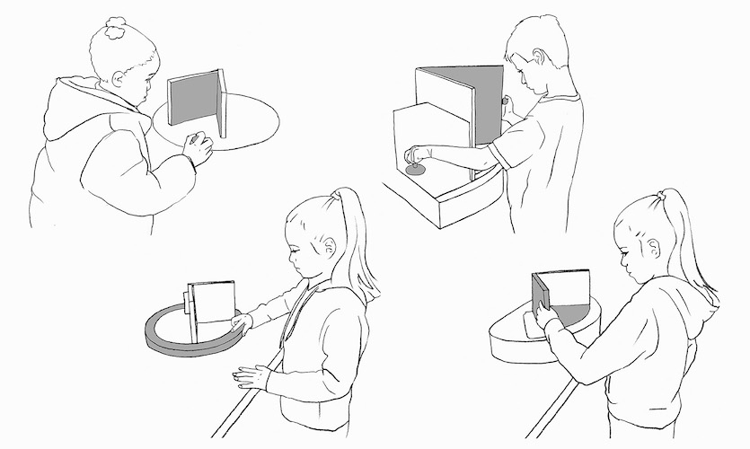 Interactive Exhibit Use Drawings