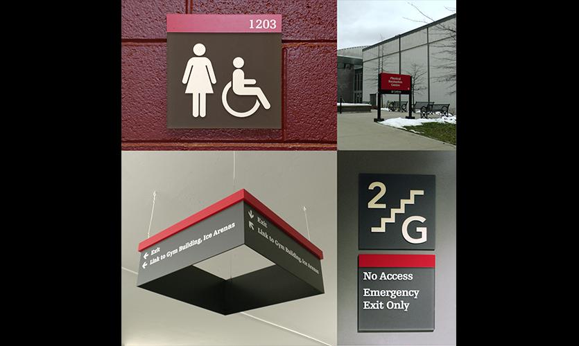 Figure 2. Standard university signage system