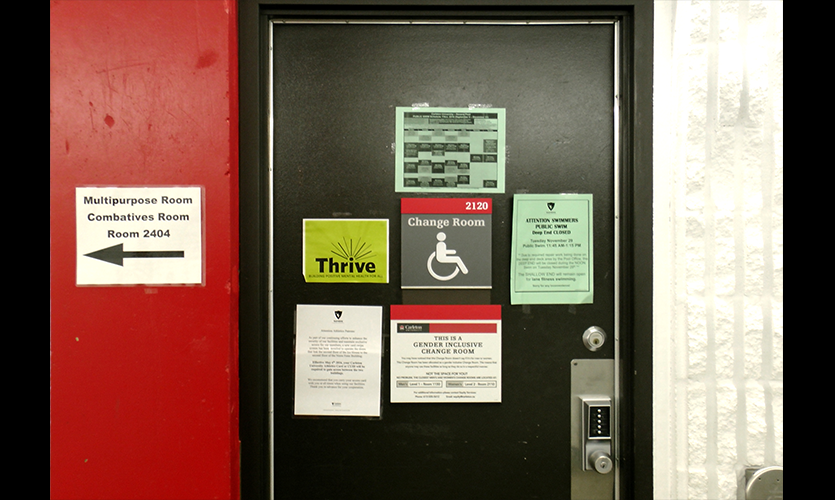 Figure 4. Ad hoc, laser printed signs