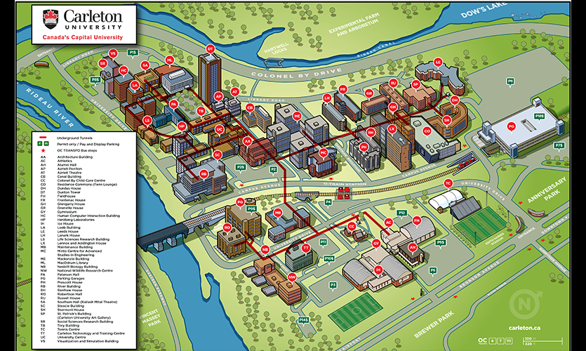 Figure 5. Campus map