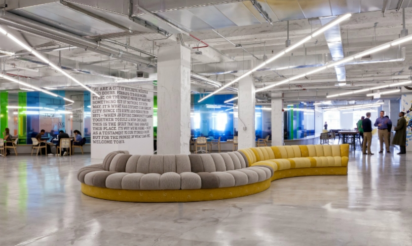 1871 is a not-for-profit co-working space and business accelerator where tech start-up entrepreneurs can work, network, and be mentored.