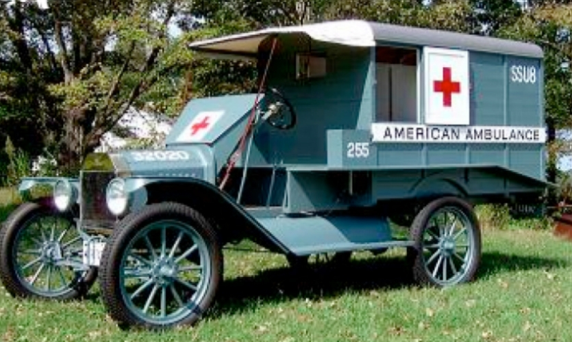 Fig. 15. Red Cross ambulance