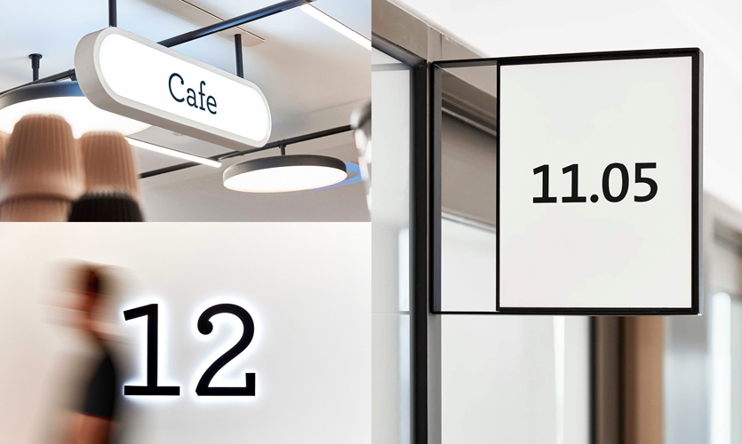 Signage forms play a supporting role, referencing the café-culture of the local neighbourhood.