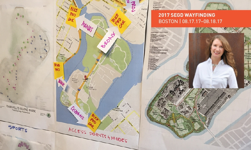 """Katie Osborn of Via Collective will lead a 2017 SEGD Wayfinding session on """"Transforming Public Spaces Through Wayfinding Strategy and User Research."""""""