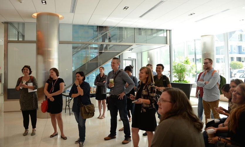 Participants get a look at Brigham and Women's Hospital's ever-expanding campus in this sold-out tour led by Cloud Gehshan.