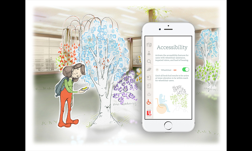 Figure 8. The app gives her accessibility options