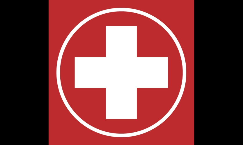 "Fig. 17. ""First Aid"" symbol at Amsterdam Airport Schiphol"
