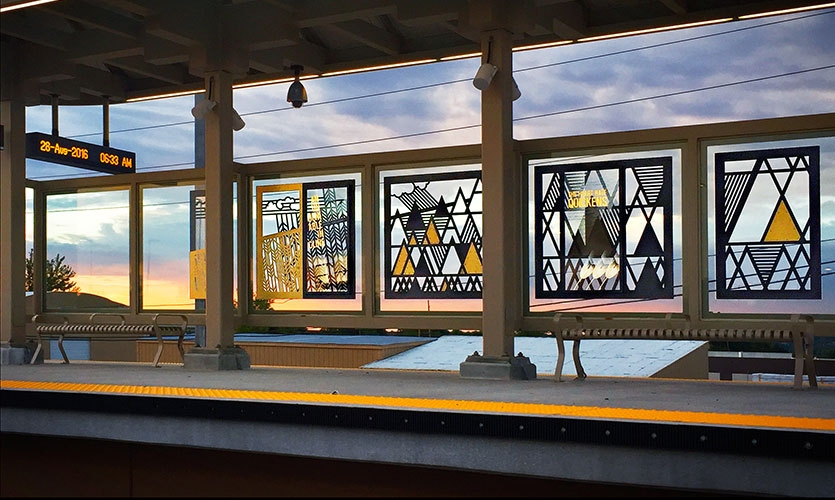 The screens were applied to each of the 17 waiting areas on seven station platforms.