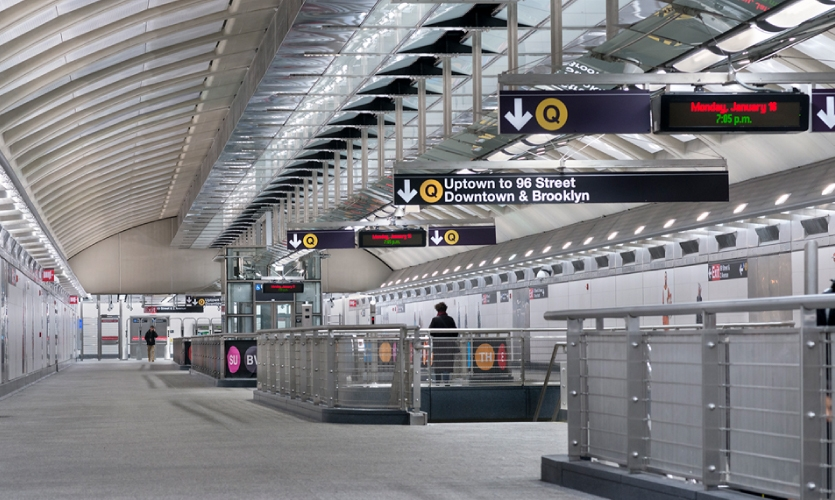 Each station would have hundreds of signs to inform, guide, and direct users to their destinations inside the station, as well as to their ultimate exit from the subway.