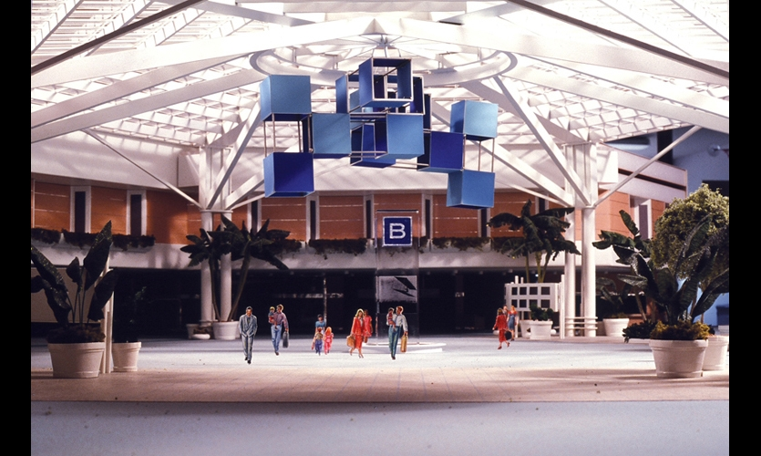 At Orlando International, Doggett created a kite theme—a nod to kite-flying events in the area and an appeal to children traveling through the airport to visit Disney World. To enhance the theme, she designed terminal placemarkers that integrated letters, colors, geometric containers, and kite configurations.