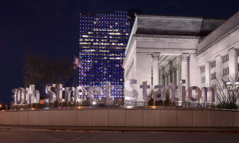 Calori & Vanden-Eynden developed new signage and wayfinding for Philadelphia's historic 30th Street Station.