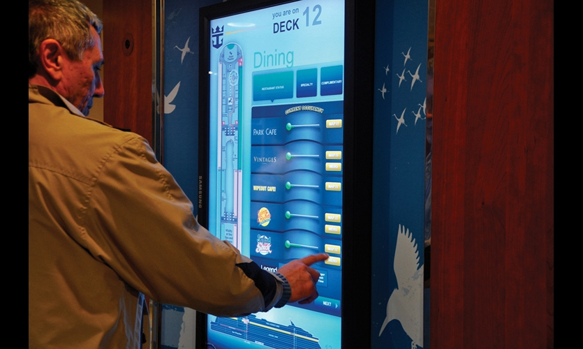Four Winds Interactive created 43 interactive touchscreens that complement the static signage in the elevator lobbies.