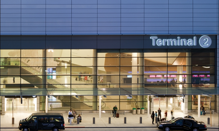San Francisco International Airport's new Terminal 2, designed by Gensler, is the first LEED Gold U.S. airport terminal.