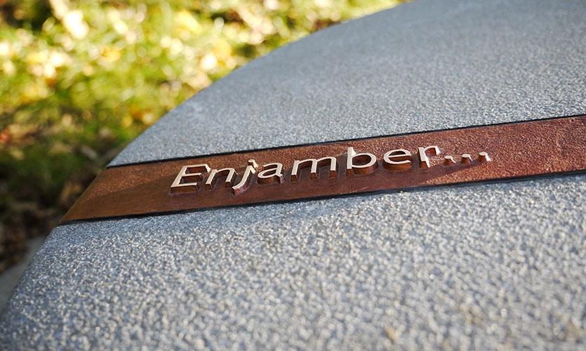 Each individual granite cone incorporates a bronze band