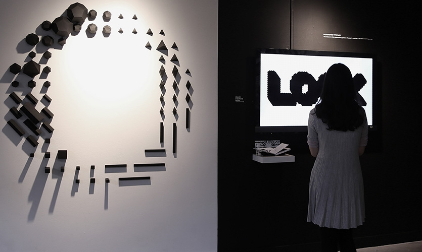 "Zheng folded 68 geometric 3-D objects from the visual system created to build the letter ""O."""