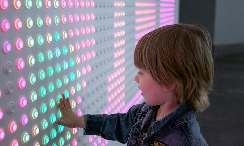 """The """"buttonwall"""" delights visitors of all ages."""