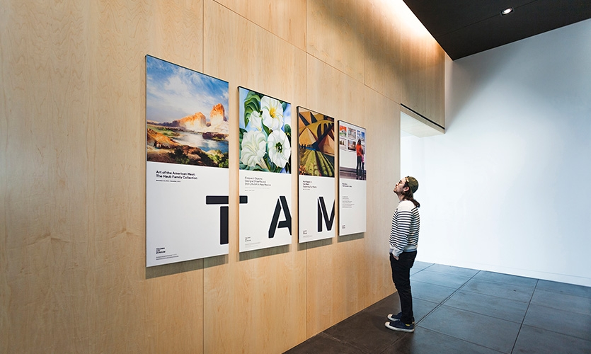 Tacoma Art Museum entry area poster set.