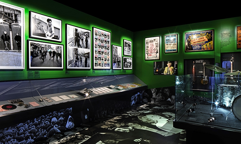 The Meet the Band gallery captures the frenzy of the band's early fame and their frenetic, almost daily touring schedule from 1963-1966.