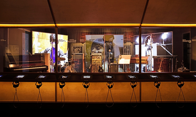 The Recording space features the Stone's studio environments, artifacts and instruments that shaped their music.