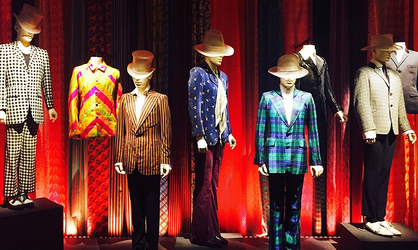The band has used clothing to define its image, from the King's Road boutiques of the late 1960s, to their later collaborations with designers like Alexander McQueen, L'Wren Scott and Hedi Slimane.