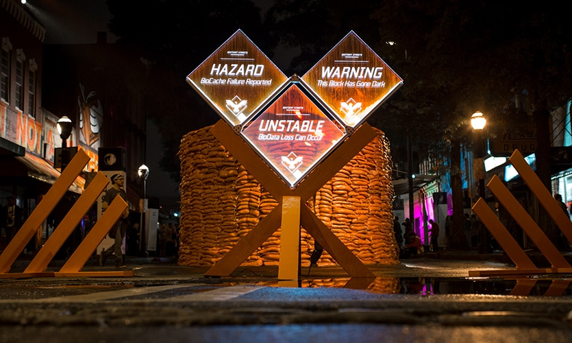 """Entrance to the """"Free Zone"""" at Creative Loafing's 2015 Best of Atlanta event."""