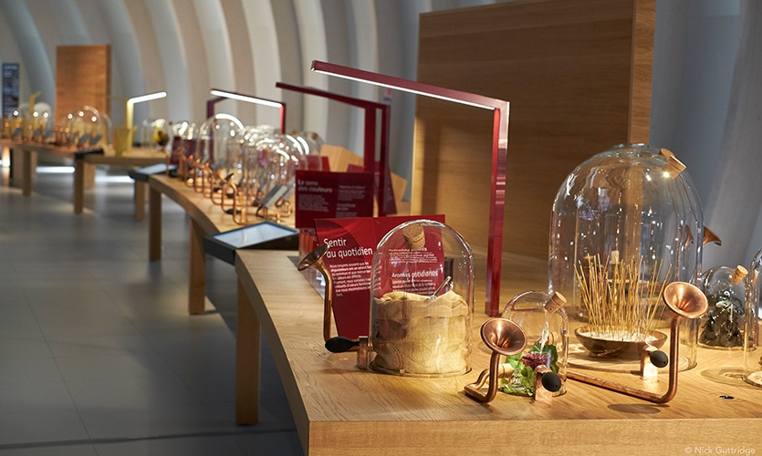 "The ""Buffet of the Five Senses"" gives visitors the chance to smell a selection of the more unusual scents of wine."