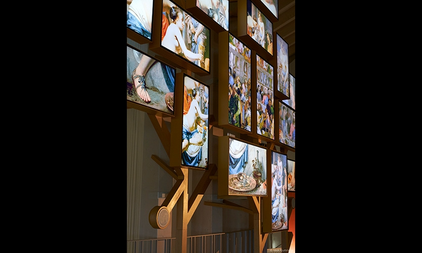 """""""Divine Wine"""" is where visitors immerse themselves in wine's sacred dimension through a striking mosaic of music, poetry and texts."""